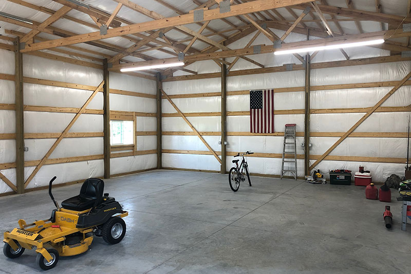 Pole Barn Garage and Sheds